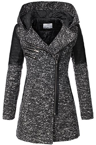 Peak Time v-1507 da donna between-season Giacca Black 2 50