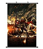 Wallscrolls-Wonderland Anime Manga Kajika Kabaneri of the Iron Fort Stoffposter Plakat Tapete Rollbild Dekoration Geschenk Wallscroll Home Decoration Wall Design 60x90CM
