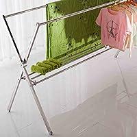 Acciaio inossidabile X tipo pieghevole stendini bipolare asciugatura By Frame balcone pensile coperta vestiti telescopici (Piegare I Vestiti Rack)