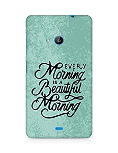 AMEZ every morning is a beautiful morning Back Cover For Microsoft Lumia 535
