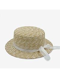 FuweiEncore Cappello da Sole Stile Moda Classica per Donna Cappello Piatto  Bowknot Cappellino Estivo da Donna 7438ba343baa