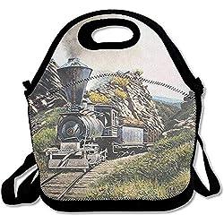 Panier Repas Train De Montagne Chemin De Fer Sac À Lunch Boîte À Lunch Sac À Lunch Fourre-Tout Pour Enfants Et Adultes