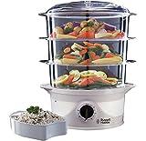 Russell Hobbs 3 Tier 9 L Capacity 800 W Food Steamer 21141 - White (Black)