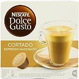 Nescafe Dolce Gusto Cortado Espresso Macchiato (Pack of 3, Total 48 Capsules, 48 servings)