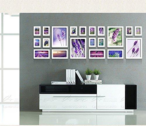 20 multi-photo cadre photo mur en bois cadre photo combo canapé mur décoratif peinture vert cadre photo Cadeaux européens ( Style : Rectangle )