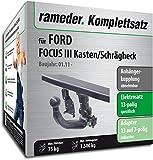 Rameder Komplettsatz, Anhängerkupplung abnehmbar + 13pol Elektrik für Ford Focus III Kasten/Schrägheck (142803-36895-1)