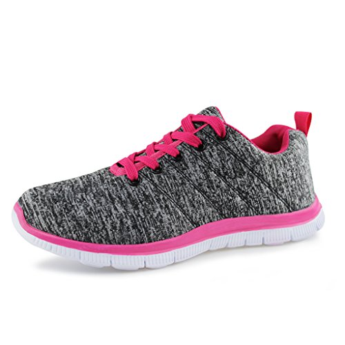 Hawkwell Damen Fitness Sportschuhe Schnürschuhe Sneakers Grau 42EU