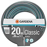 Gardena Classic Schlauch Universeller Gartenschlauch aus robustem Kreuzgewebe, 22 bar Berstdruck, UV-beständig, ohne Systemteile, 19 mm, 3/4 Zoll, 20 m