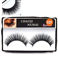 Keyobesa False Lashes, 3D Extension Natural Look Handmade Reusable Fake Long Eyelashes for Women Makeup