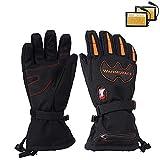 TSSM Elektrisch beheizte Handschuhe Wiederaufladbarer Li-Ionen-Akku für Männer Frauen Handschuhe für kaltes Wetter Reithandschuhe Hochtemperatursperre 55 ° für Arbeiten im Freien Angeln -