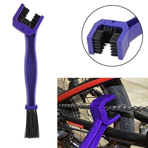 Ketten Reinigungsbürste kettenbürste Sauberen Bürste zur Reinigung von Motorrad-, Fahrrad- oder Rollerketten - blau