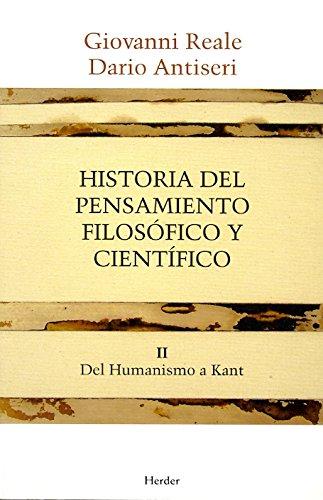 Historia del pensamiento filosófico y científico II: Del Humanismo a Kant por Giovanni Reale