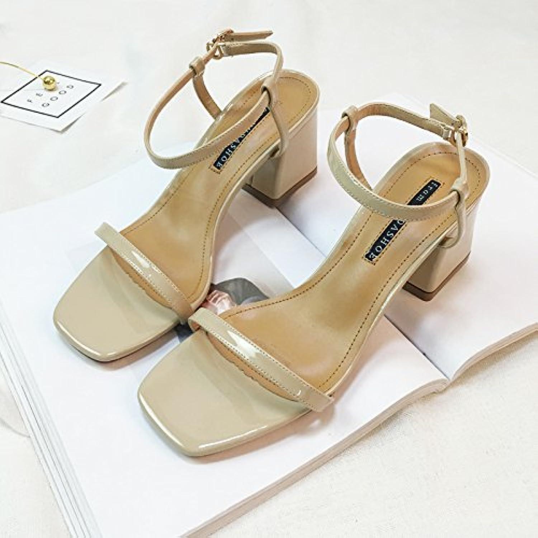 SHOESHAOGE Elegante Temperament Dew-Like High Heels In Der Spät - Nacht Frauen Schuhe Mit Dicken Mit Sandalenö