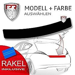 PR-Folia Ladekantenschutz - E-Klasse T-Modell (Typ S213, ab Bj.07/2016) - SCHWARZ Stoßstangenschutz Folie Lackschutzfolie inkl. Rakel