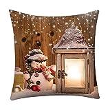 ABsoar Weihnachten Kissenbezuge Dekokissen Kissenhülle Pillow Covers Bettwäsche Für Autos Sofakissen Startseite Dekorative Fr