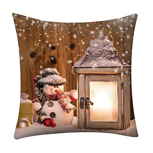 ABsoar Weihnachten Kissenbezuge Dekokissen Kissenhülle Pillow Covers Bettwäsche Für Autos Sofakissen Startseite Dekorative Frohe Weihnachten Leinen Sofa Kissenbezug Home Dekoration -