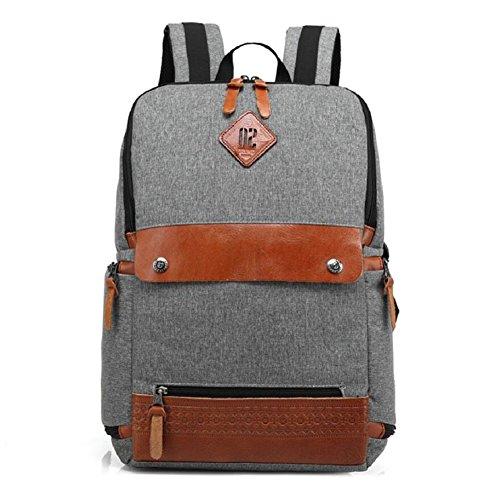 Z&N Backpack Moda creativa borsa del computer spalla casuale borse per studenti casuali leggero zaino del computer portatile libro borsa da ginnastica bag attrezzatura da campeggio trekkingblack14L gray