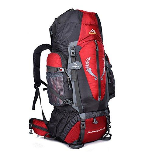 Fastar Large 80+ 5L hiking camping sport all' aperto zaino impermeabile multiuso zaini arrampicata per outdoor trekking campeggio sci Travelling, Blue Red
