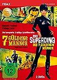 7 goldene Männer + Das Superding der 7 goldenen Männer / Die komplette mit dem Prädikat WERTVOLL ausgezeichnete 2-teilige Spielfilmreihe (Pidax Film-Klassiker) [2 DVDs]