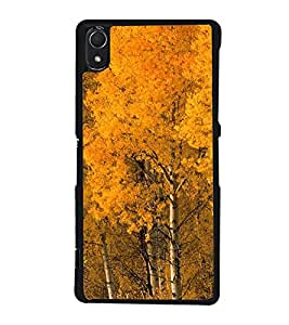 Fuson Designer Back Case Cover for Sony Xperia Z2 (5.2 Inches) (Yellow trees Orange Trees autumn Spring Seasonal Beauty)