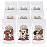 AniForte® NatureBreak Snack Set Komplett Hundesnack 9x150g- Naturprodukt für Hunde