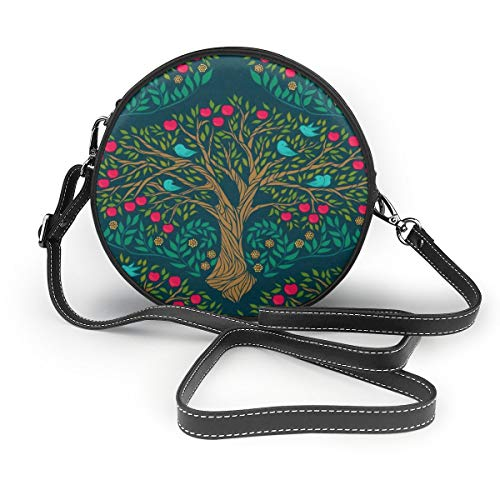 Handbags For Women,Apple Tree - Ruby Red PU Leather Shoulder Bags,Tote Satchel Messenger Bags