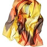 Internet Femmes Wrap doux longue écharpe Mesdames châle mousseline de soie foulards Motif de fleurs 160*50CM (A)