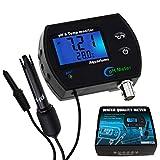 TEKCOPLUS Tester del Misuratore di Monitoraggio Continuo della Temperatura 2 in 1 Tester ATC Set di Calibrazione Dell'amplificatore Sostituibile per Elettrodi