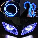 #4: AutoSun Custom Shape Motorcycle Daytime Running Light for All Bikes (Blue)
