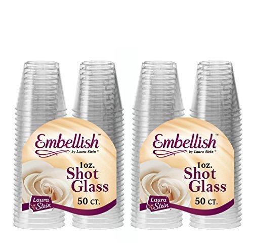 Embellish transparenter Kunststoff, Einweg-Schnapsgläser 30 ml - 1 oz., plastik, 100 Pcs