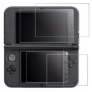 Display Schutz für Nintendo Neue 3DS XL, AFUNTA 4Pcs gehärtetes Glas für Top Screen und HD Clear Crystal PET Film für…