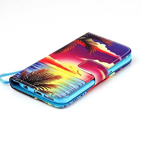 Meet de Samsung Galaxy S6 Edge Bookstyle Étui Housse étui coque Case Cover smart flip cuir Case à rabat pour Galaxy S6 Edge Coque de protection Portefeuille - this iphone is locked slide to unloke Hawaii