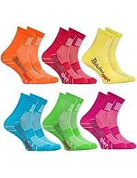 Rainbow Socks - Calzini Sportivi per BAMBINI - COTONE Respirante - da Correre Bicicletta ed altri SPORT - Attrattive Combinazioni di Colori  per Ragazza e Ragazzo, Numeri: EU 24-29 e 30-35, Made in EU