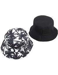 Cappello Hip Hop Secchio Cappello da Sole Unisex Uomo Comodo Donna  Reversibile Albero di Cocco Stampa e15ed6a7736d