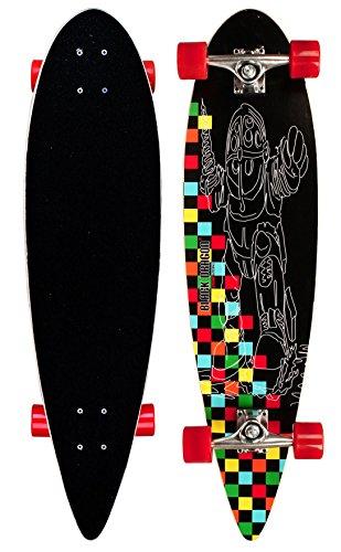 Black Dragon Longboard Pintail Tropical Funk, Schwarz Rot, 36 Zoll, 1020482
