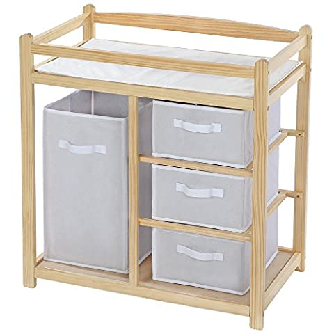 TecTake Baby toddler changing table unit station storage wood - different models - (Type 2 | no.