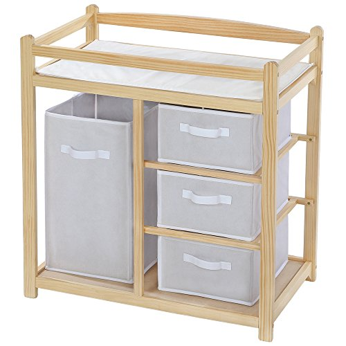 TecTake Baby toddler changing table unit station storage wood - different models - (Type 2 | no. 401405)
