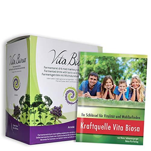 VITA BIOSA ARONIA Blaubeere Kräuterferment Getränk 3.000 ml Box/GRATIS: Buch *Kraftquelle Vita Biosa* überarbeitete Neuauflage (9,80 €) …