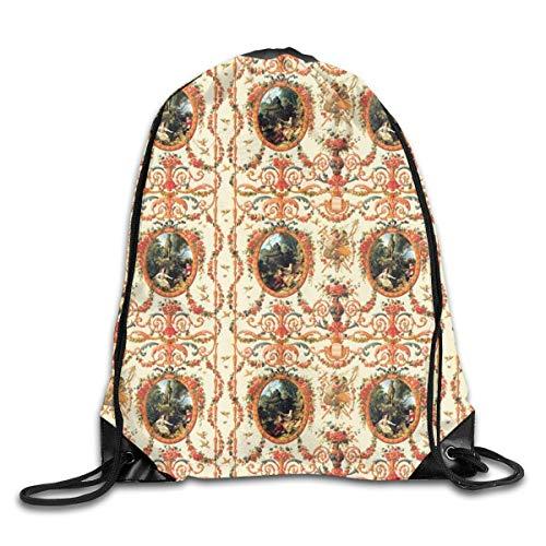 Naiyin Marie Antoinette Rococo Lovers Seasons Drawstring Backpack Bag Rucksack Shoulder Sackpack Sport Gym Yoga Runner Beach Hiking Dance -