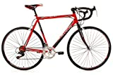 KS Cycling Piccadilly 260B - Bicicleta de carretera, color rojo, ruedas 28', cuadro 55 cm