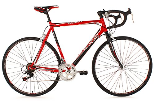 KS Cycling Piccadilly 260B – Bicicleta de carretera, color rojo, ruedas 28″, cuadro 55 cm