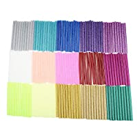 150 Pieces Glitter Hot Melt Adhesive Glue Sticks for DIY Art Craft 7mm x 100mm (15 Colors)