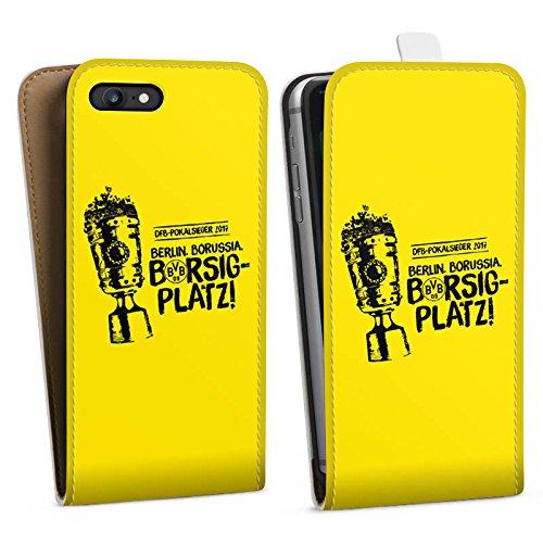 Apple iPhone X Silikon Hülle Case Schutzhülle Borussia Dortmund Pokalsieger BVB Downflip Tasche weiß