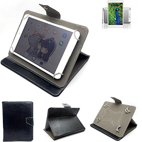 K-S-Trade Schutz Hülle Tablet Case für Blaupunkt Polaris 808, schwarz. Tablet Hülle mit Standfunktion Ultra Slim Bookstyle Tasche Kunstleder