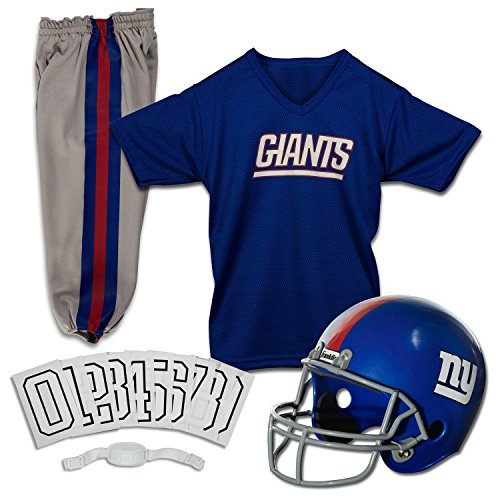 Franklin Sports NFL Deluxe Jugenduniform-Set, Jungen Unisex, 15701F09, New York Giants, m