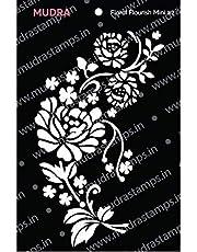 "Mudra Stencils - Floral Flourish Mini#2-3""x4"" - for DIY Home Decors, Crafts & Mixed Media"
