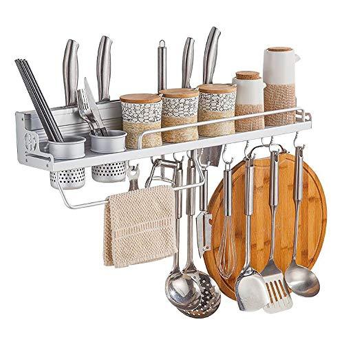 Janron-kitchen con montaggio a parete in acciaio inox pan pot rack porta utensili da cucina pentole hanger organizer porta accappatoio nessuna perforazione 15.7 pollici/19,6 pollici/23,6 pollici