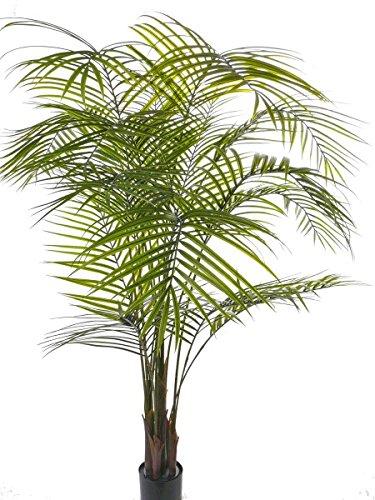 artplants Künstliche Areca Palme MELMAN, 16 Wedel, grün, uv-sicher, 175 cm – Kunstpflanze/Künstliche Palme