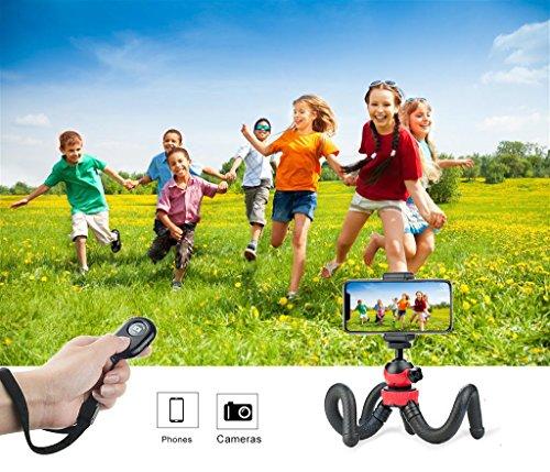 ZIMZIM Treppiedi Fotografico da Viaggio Treppiedi Cellulare Portatile Treppiede Telefono Leggero Universale per Smartphone//Fotocamera Reflex//Fotocamera Digitale Treppiedi Fotocamera Flessibile