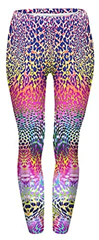 Fringoo Women Fitness Fully Printed Leggings Workout Tights Dance Fashion Teenager Yoga Pilates Pants Emoij 8 / 10 / 12 / 14 (One Size Fits: 8 / 10 / 12, Coloured